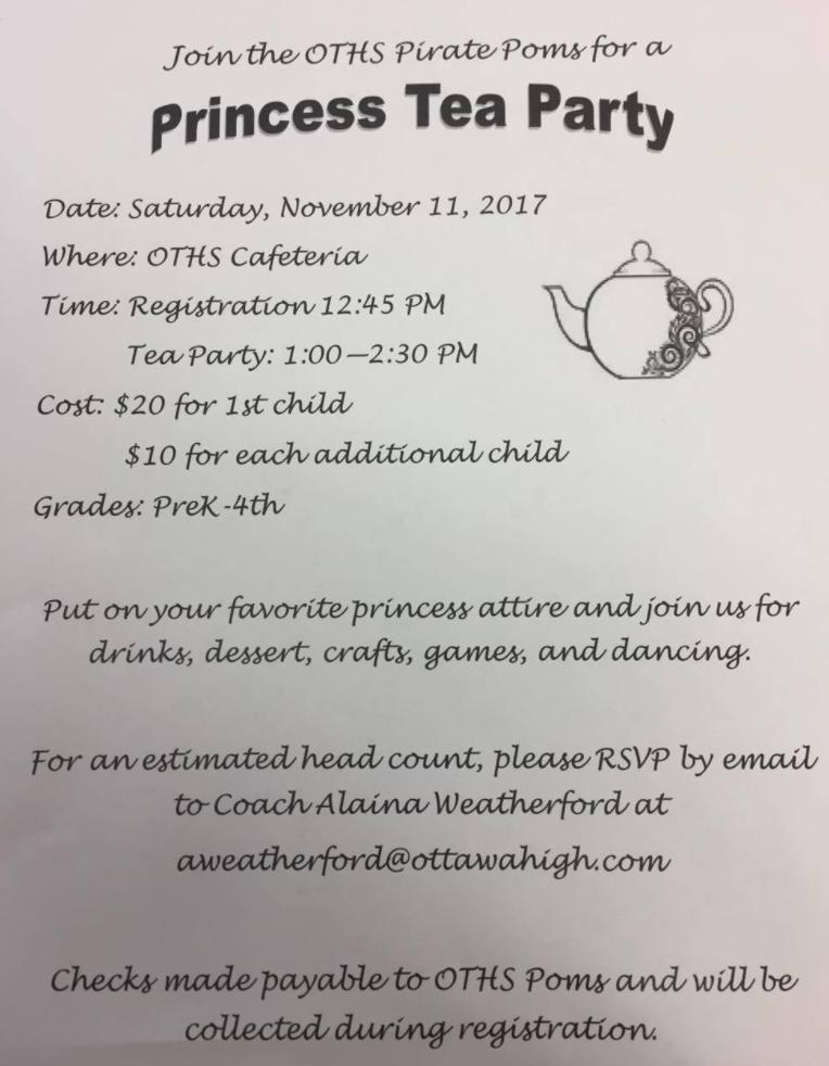 OHS Princess Tea Party