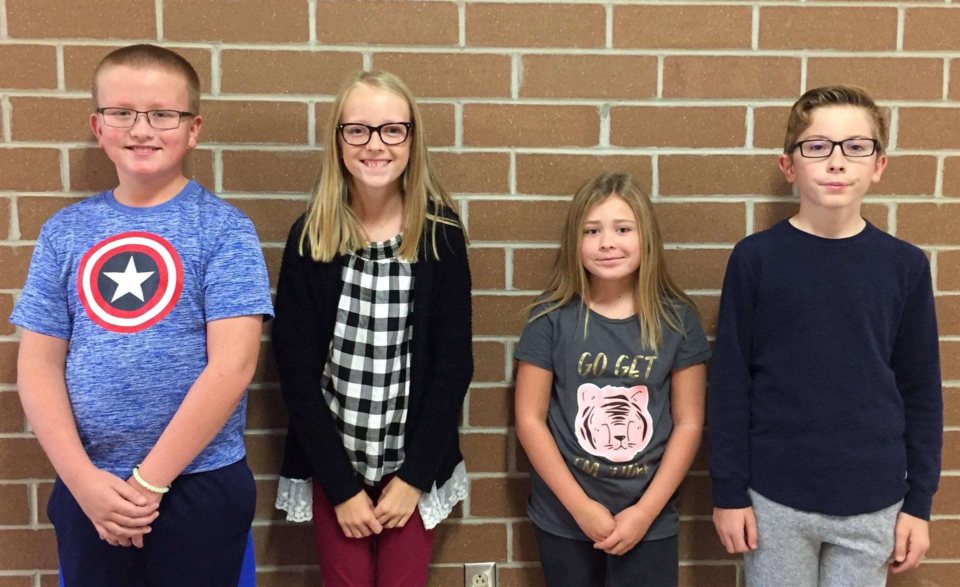 October's Students of the Month for Trustworthiness