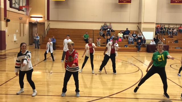 Girls and Boys Pom Dance