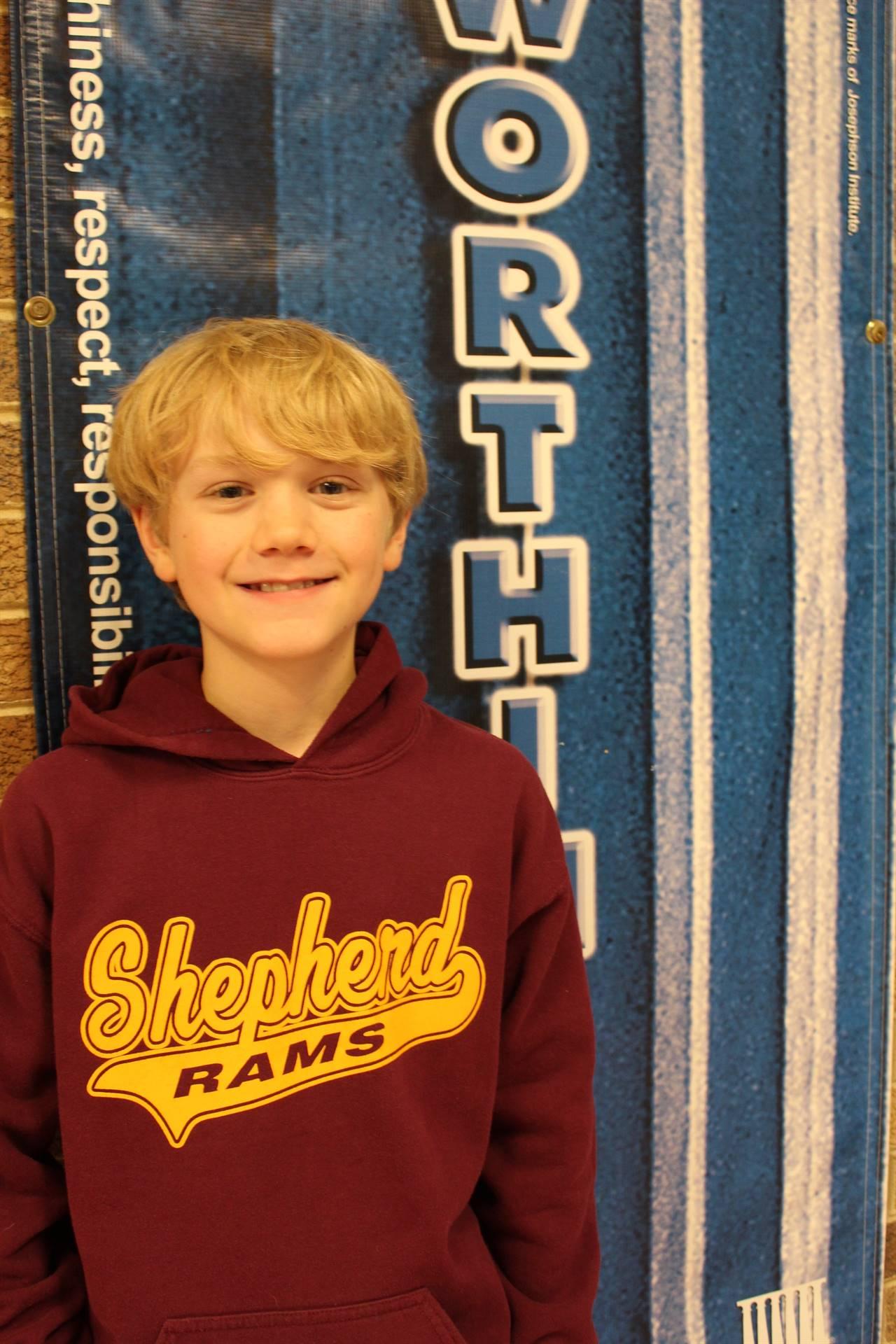 Noah U. (October - Student of Character (Trustworthiness)