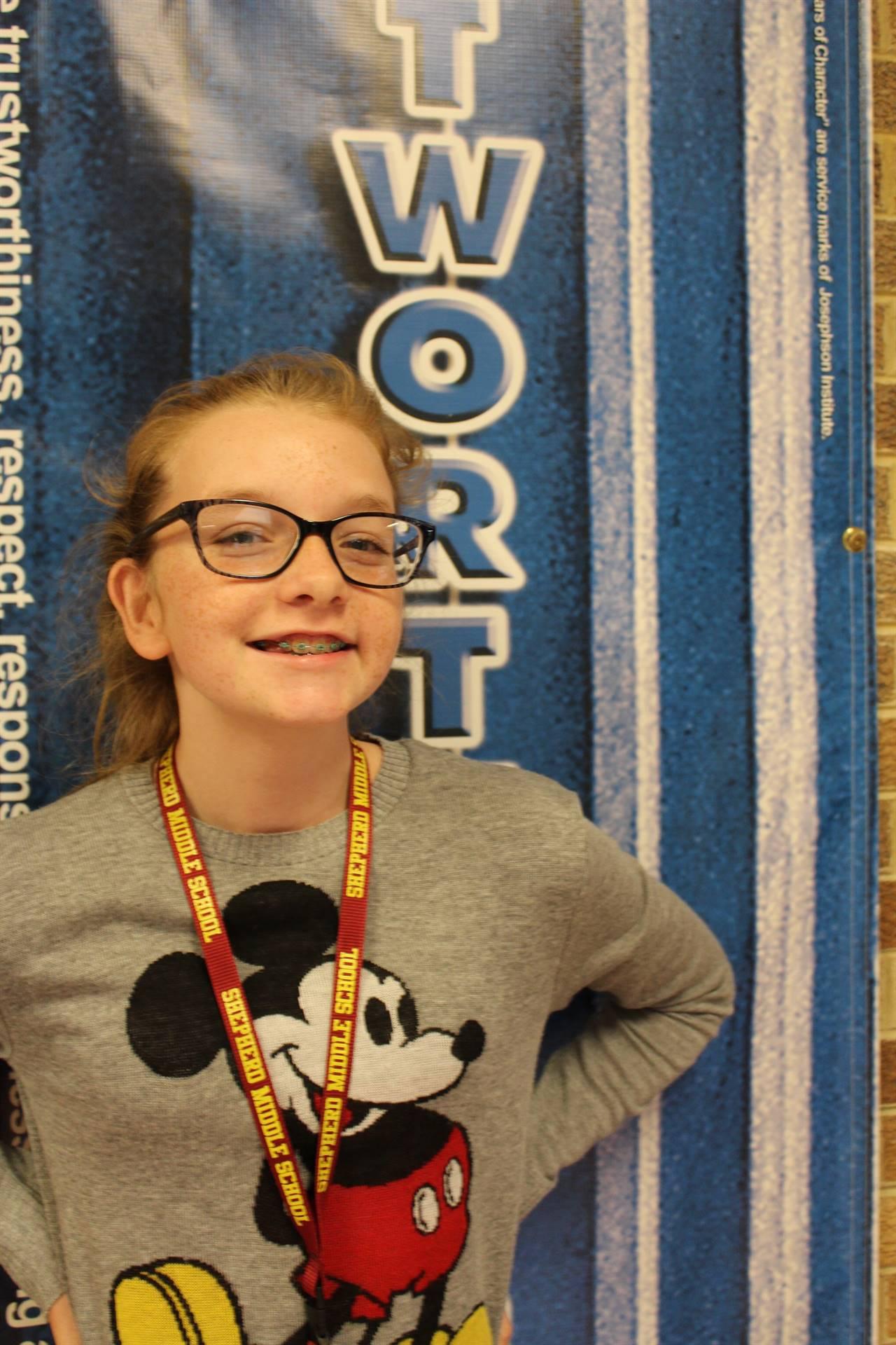 Lauren M. October - Student of Character (Trustworthiness)