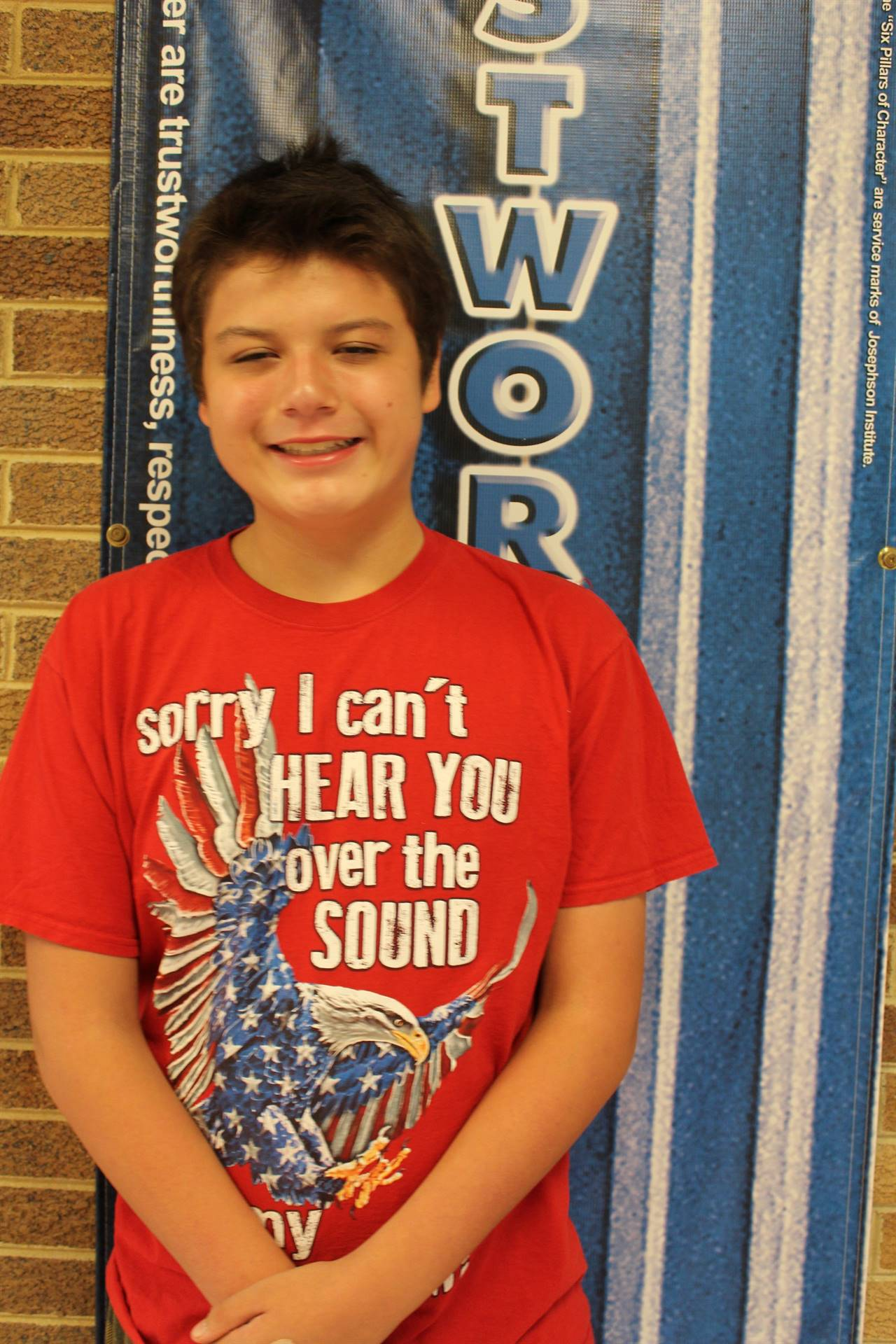 JJ M. October - Student of Character (Trustworthiness)