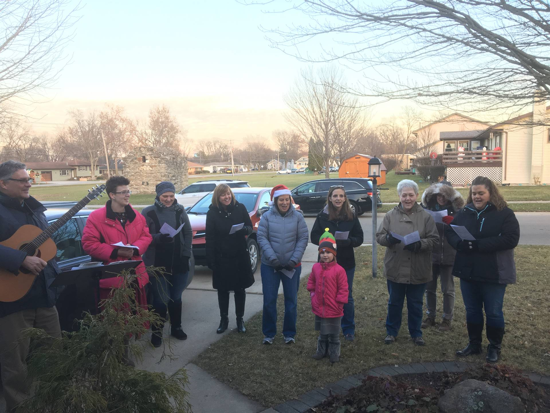 Central Staff enjoy a nice night out Christmas Caroling!