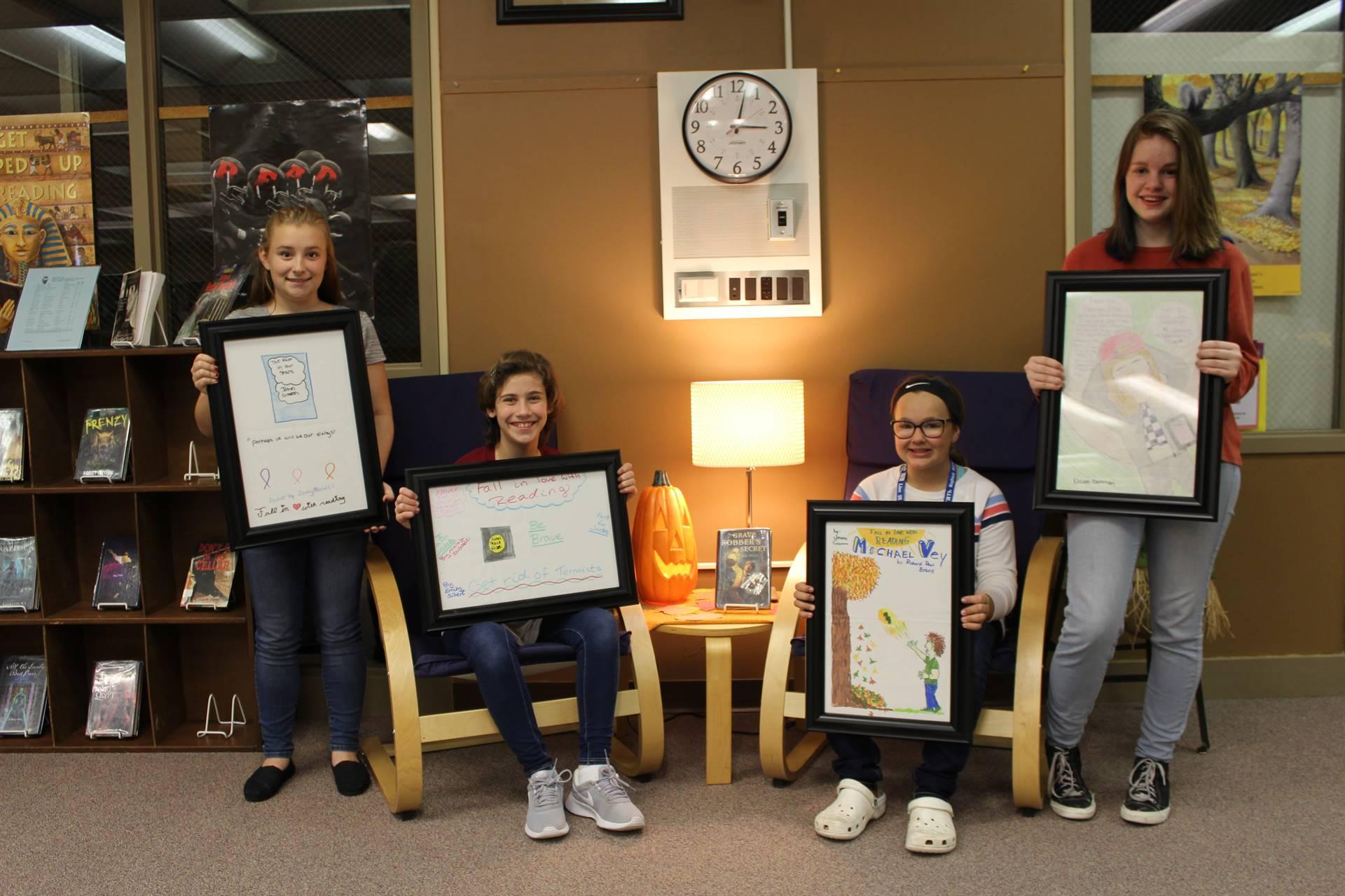 Poster Winners - Naveah B, Emily S, Zoey M, Jenna G