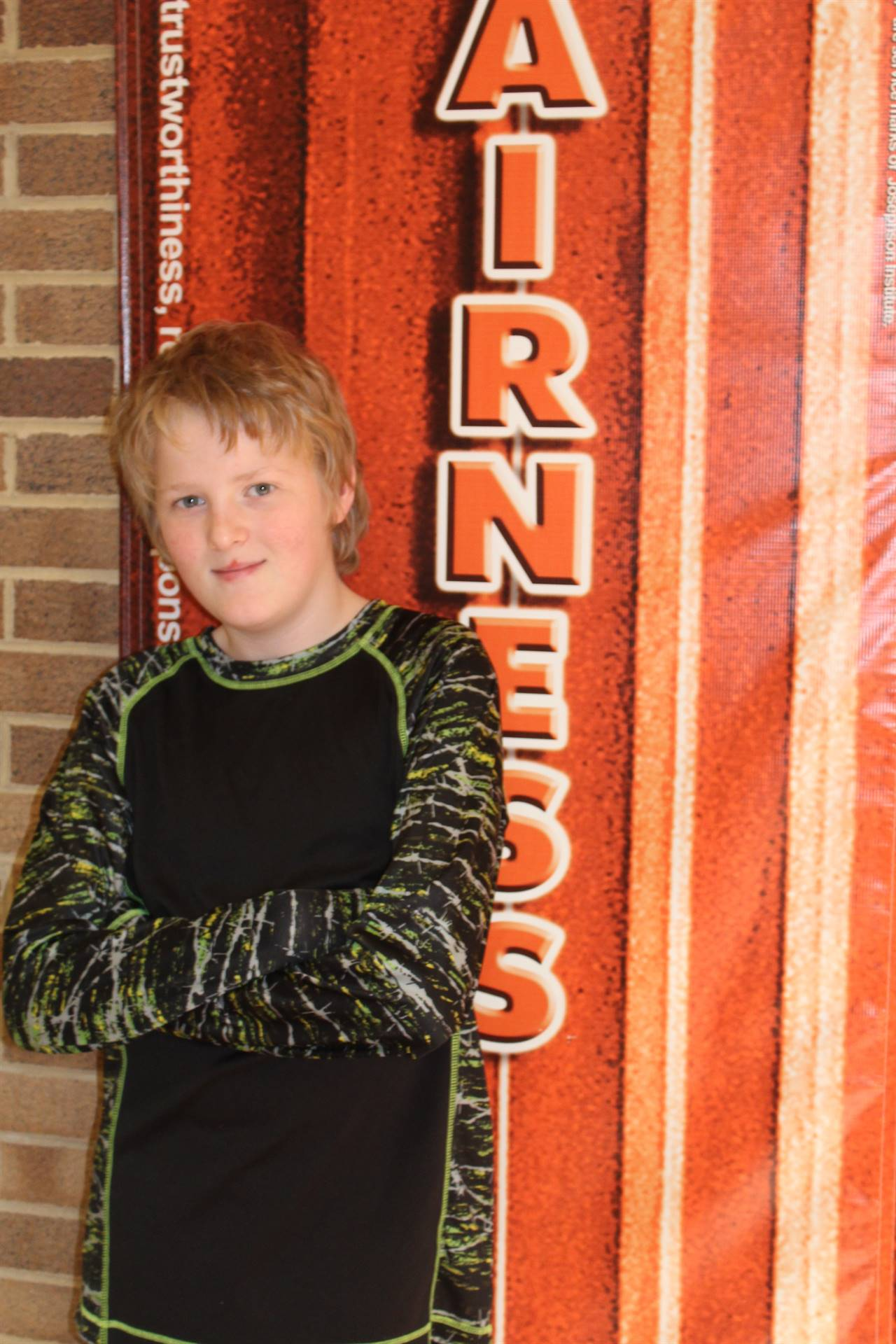 Zack S. (January Student of Character) - Fairness