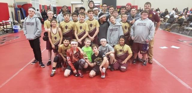 Shepherd Wrestling Team  - 3rd Place Finish