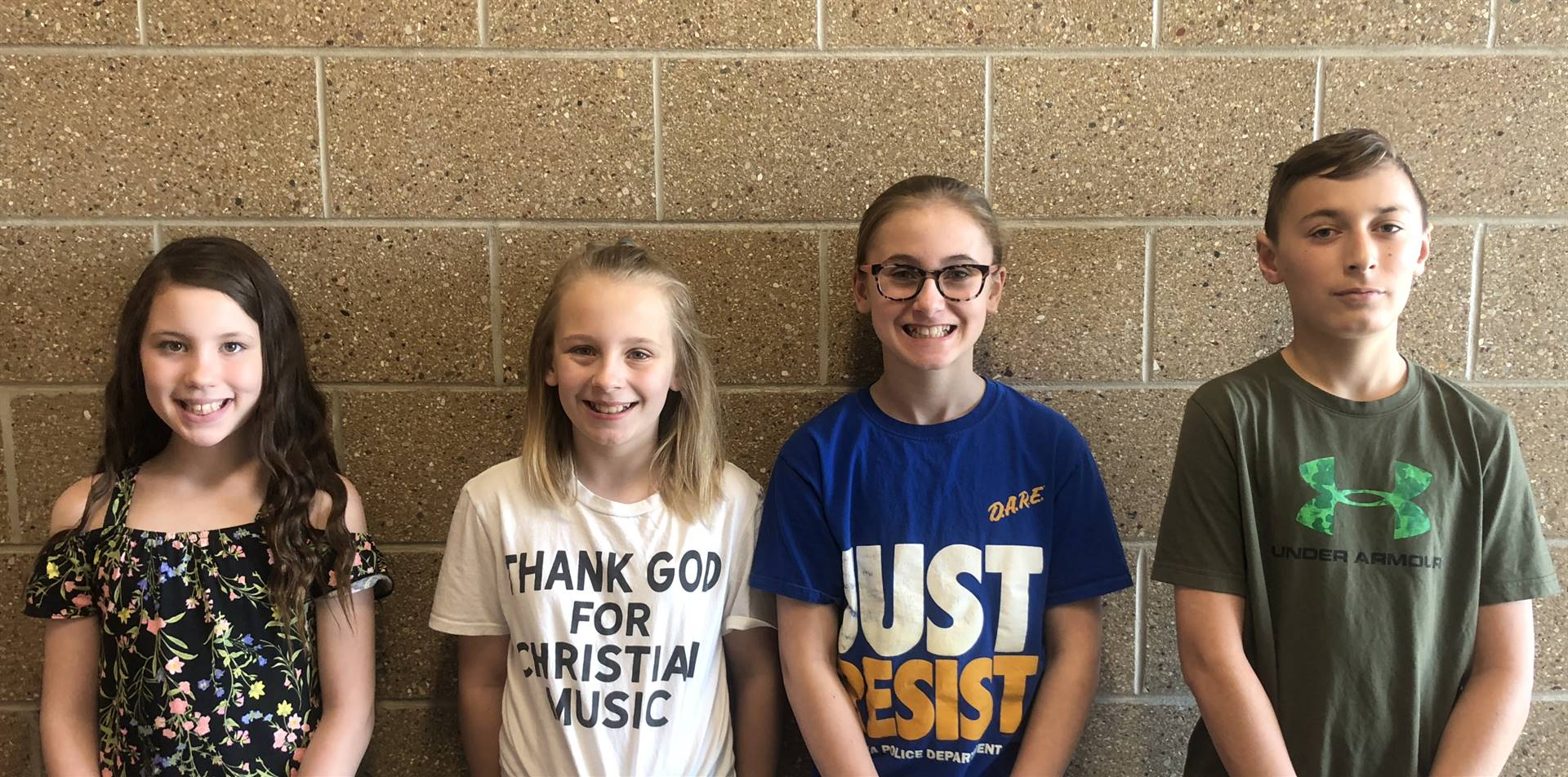 April's Students of the Month for Perseverance!