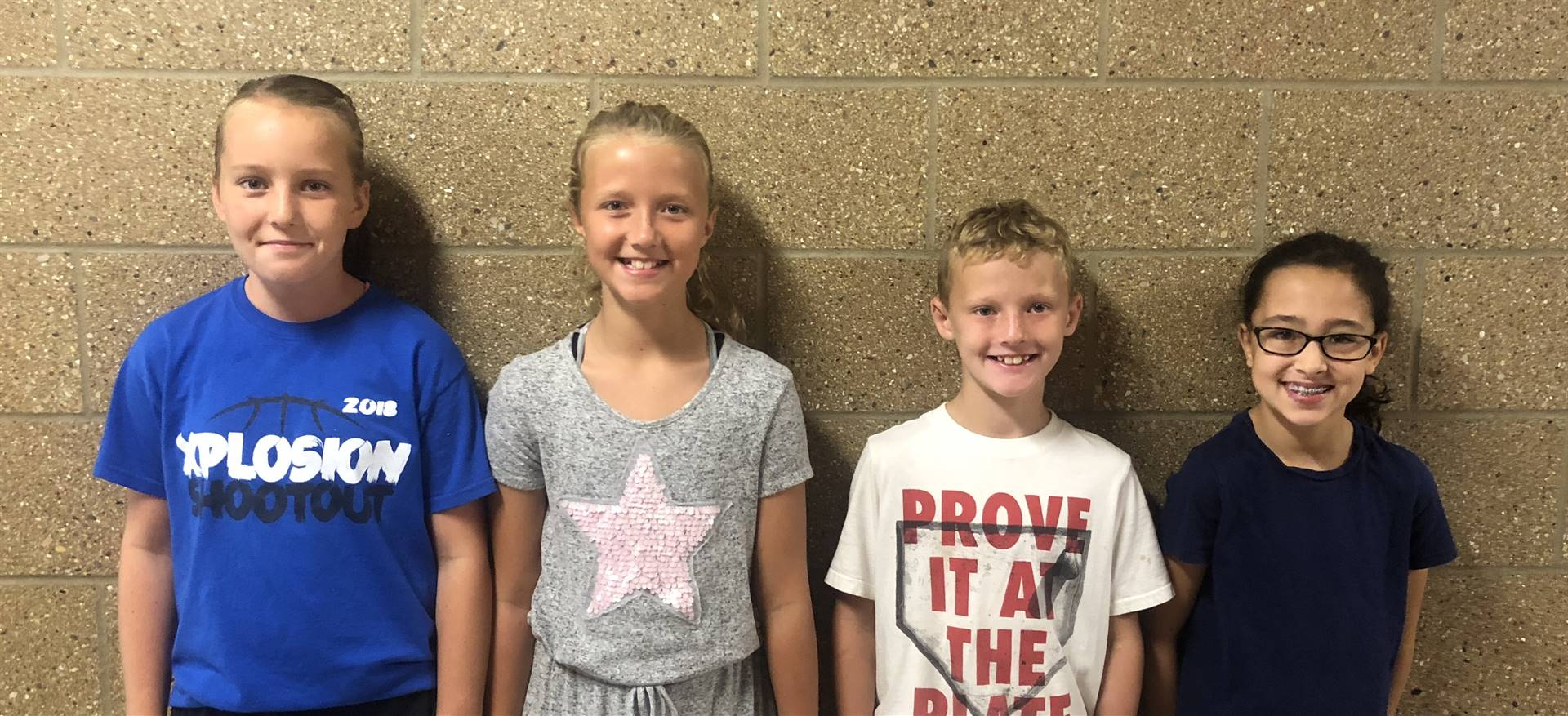 September's Students of the Month for Responsibility