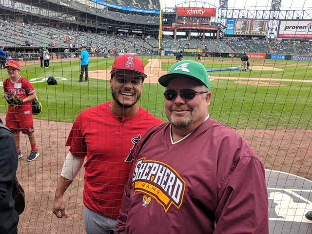 Mr. Baker and  Michael Hermosillo - Angels vs White Sox