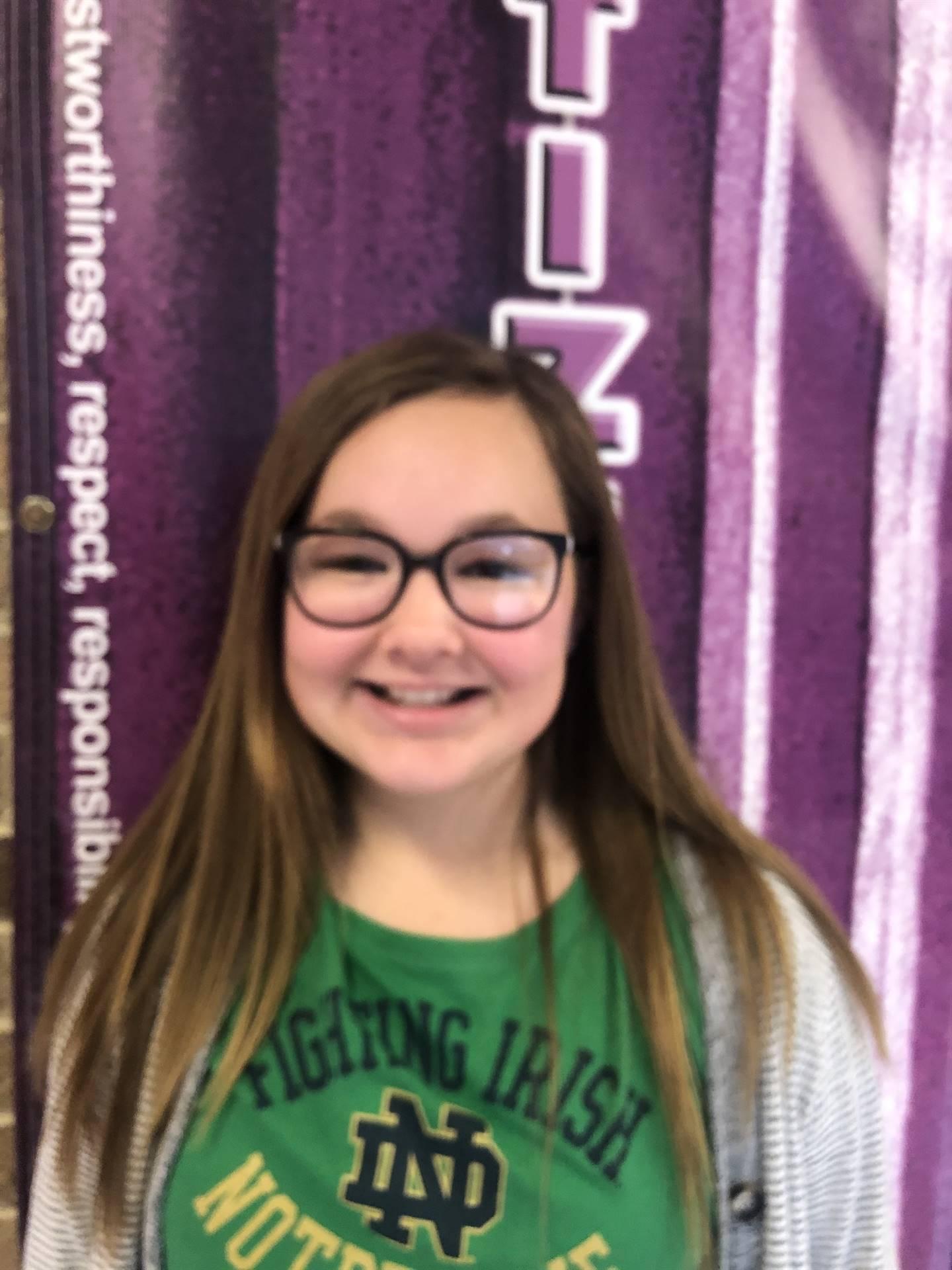 November Student of Character - Jenna G.