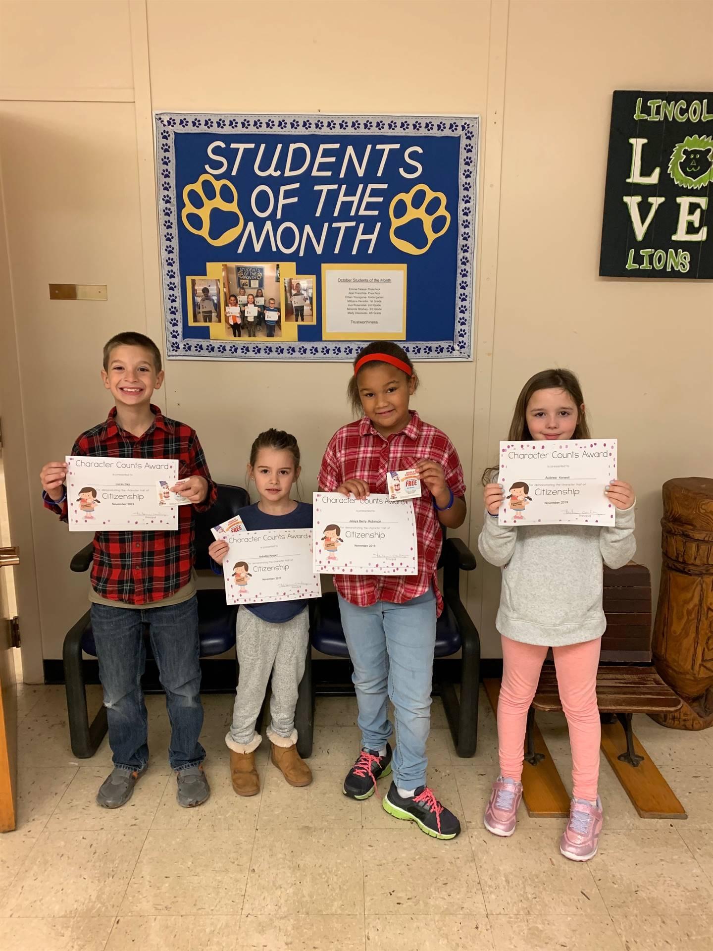 November Students of Character