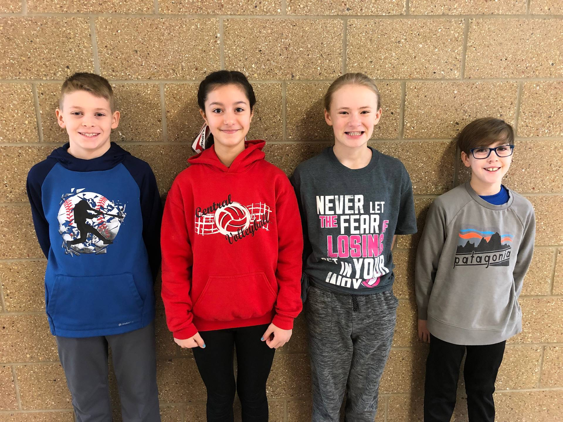 February's Students of the Month for Caring!