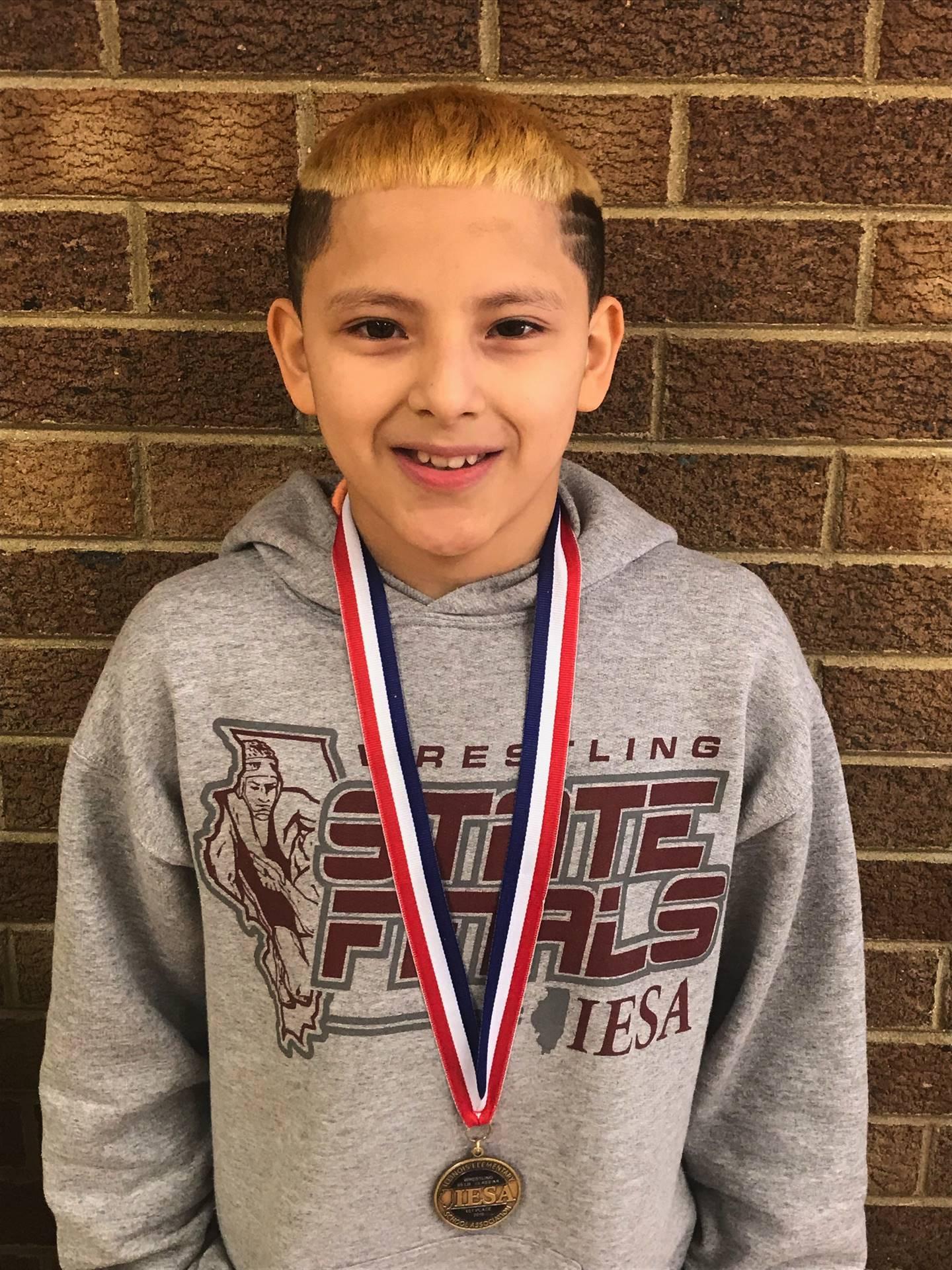 Ivan N. 7th Grade State Champion (Wrestling)