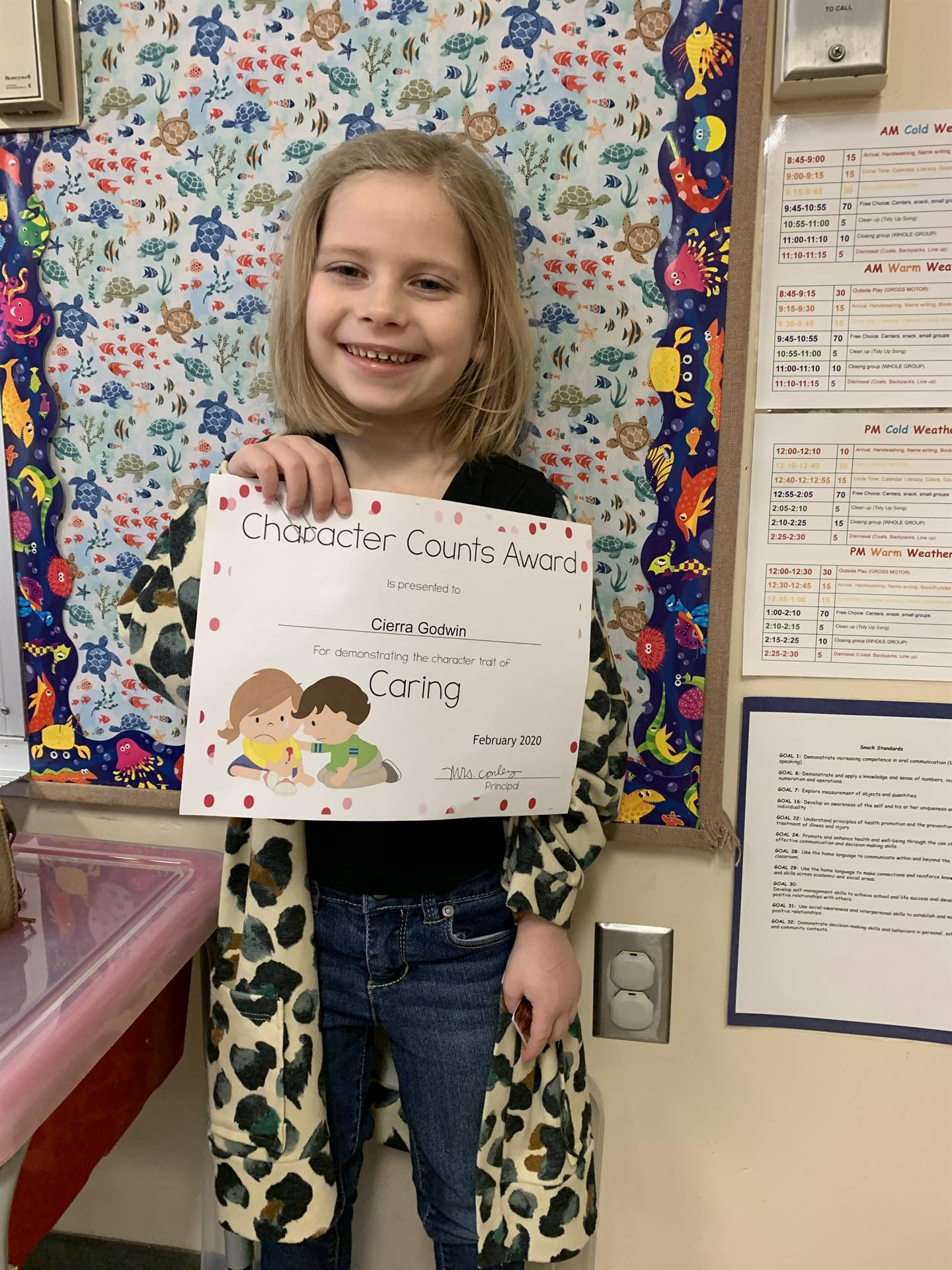 February Student of Character